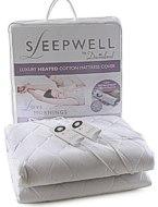 Sleepwell beheizte Matratzenauflage mit Intelliheat-Technologie, aus 100 Prozent Baumwolle, Textil, weiß, 180 x 200 cm